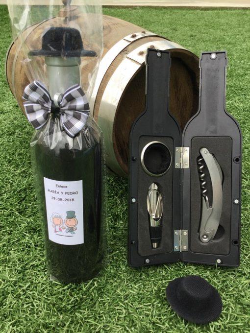 Botellas De Vino Para Regalar En Bautizos.Set Accesorios Vino Forma Botella Vino Decorada